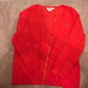 Women's vineyard vine coral Sweater XL